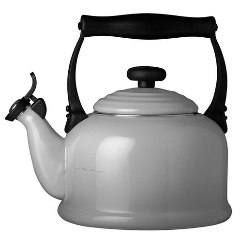 Le Creuset Fluitketel Tradition - Mist Grey
