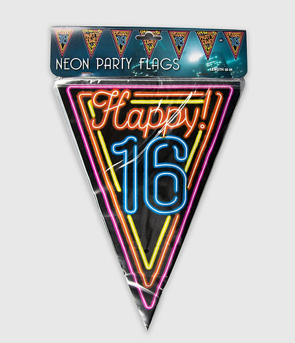Neon Party Vlag 16