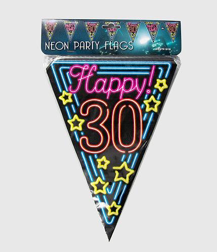 Neon Party Vlag 30