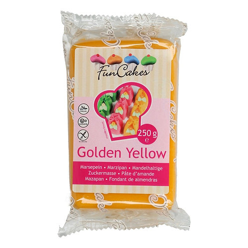 FunCakes Marsepein - Golden Yellow 250g