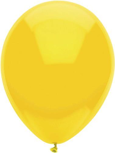 Ballonnen Uni Geel 10st. 30cm