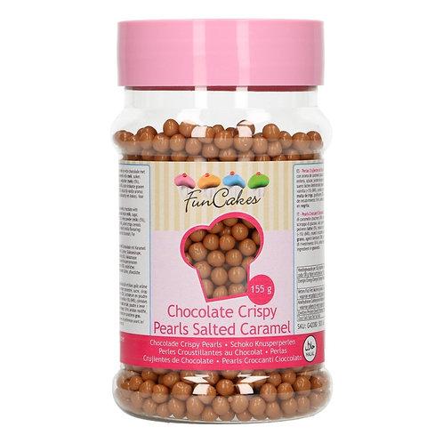 FunCakes Chocolade Crispy Pearls - Salted Caramel 155g