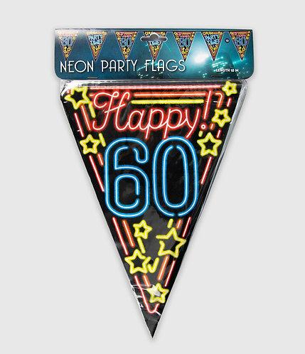 Neon Party Vlag 60