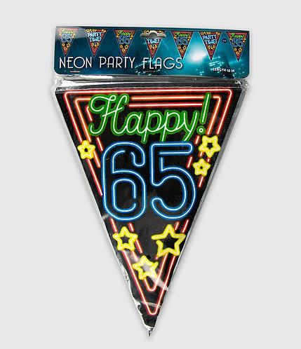 Neon Party Vlag 65