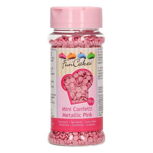 FunCakes Confetti - Metallic Roze 70g