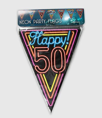 Neon Party Vlag 50