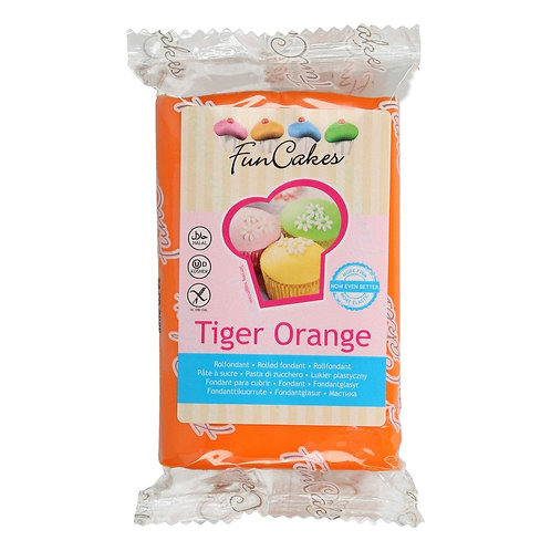 FunCakes Rolfondant - Tiger Orange 250g