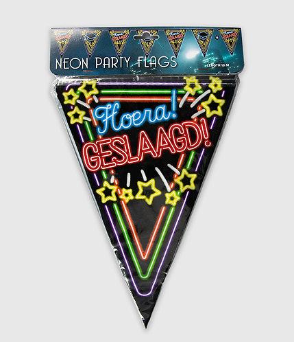 NeonParty Vlag Geslaagd
