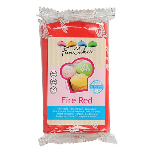 FunCakes Rolfondant - Fire Red 250g
