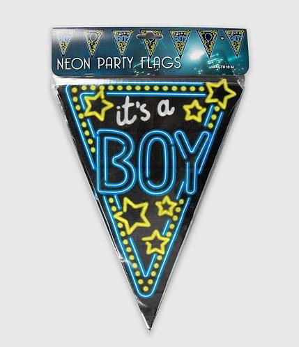 Neon Party Vlag Boy