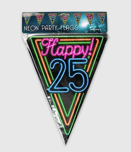 Neon Party Vlag 25