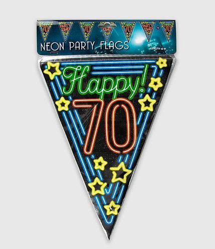 Neon Party Vlag 70