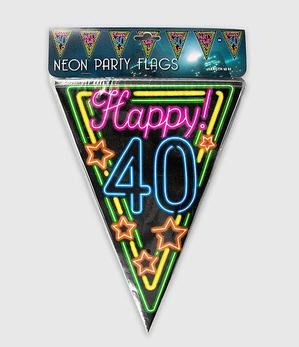 Neon Party Vlag 40