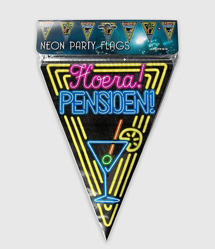 Neon Party Vlag Pensioen