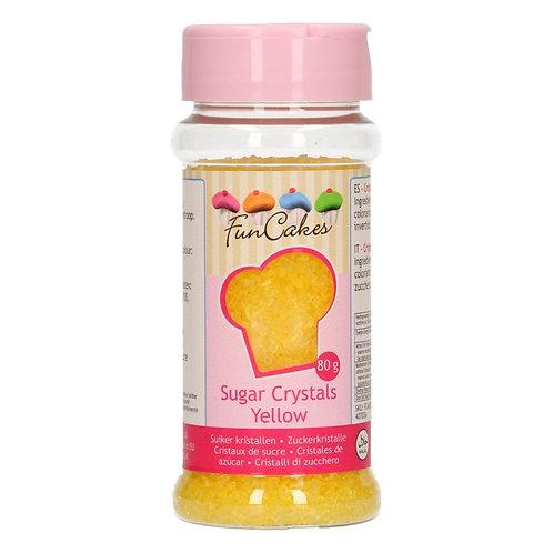 FunCakes Gekleurde Suiker - Geel 80g