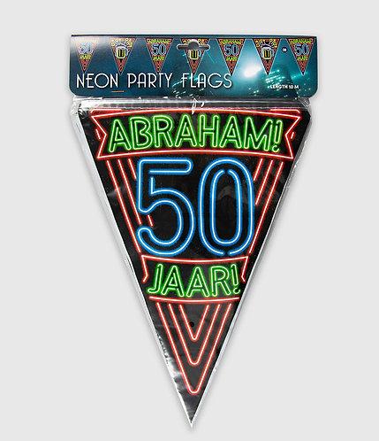 Neon Party Vlag 50 Abraham
