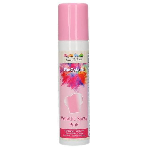 FunCakes FunColours Metallic Spray Pink- 100ml