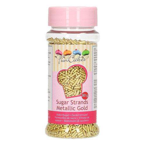 FunCakes Sugar Strands - Metallic Goud 80g