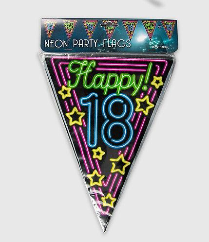 Neon Party Vlag 18