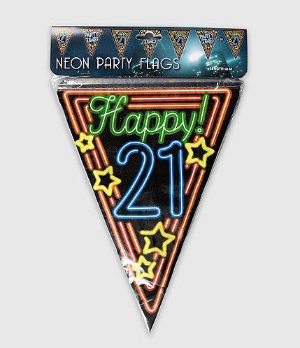 Neon Party Vlag 21