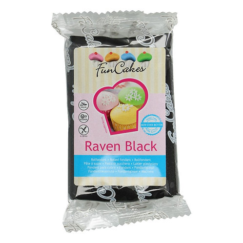FunCakes Rolfondant - Raven Black 250g