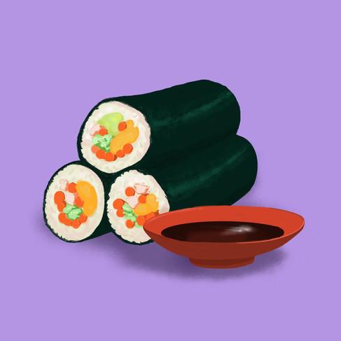 Smiling Sushi Rolls