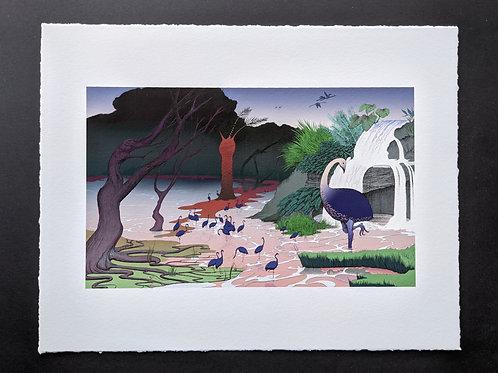 Momo's Home Art Print