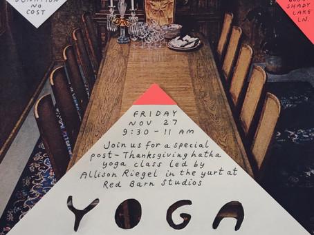 Post-Thanksgiving Yurt Yoga in California