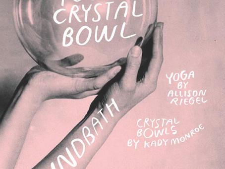 Yin Yoga Crystal Bowl Soundbath at Love Hive Yoga / Saturday, March 14, 2020, 7-9 pm PST