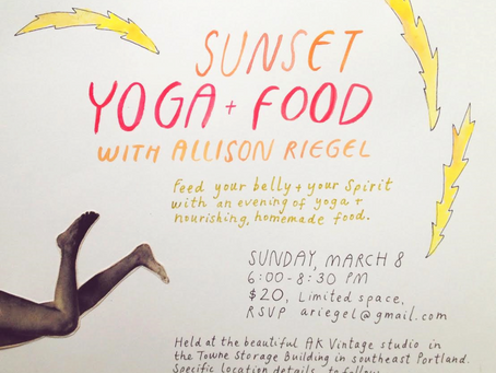 Sunset Yoga + Food