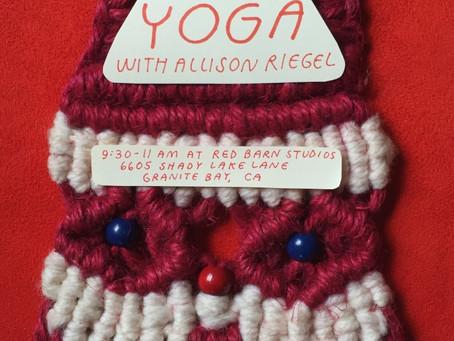 24th of December Yurt Yoga