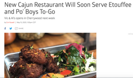 New Cajun Restaurant will soon serve Etoufee and Po'Boys To-Go