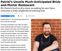 Patrizi's Unveils Much-Anticipated Brick-and-Mortar Restaurant