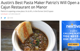 Austin's Best Pasta Maker Patrizi's Will Open a Cajun Restaurant on Manor