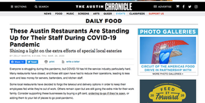 These Austin Restaurants are standing up for their staff during Covid-19 Pandemic