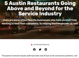 5 Austin Restaurants Going Above and Beyond for the Service Industry