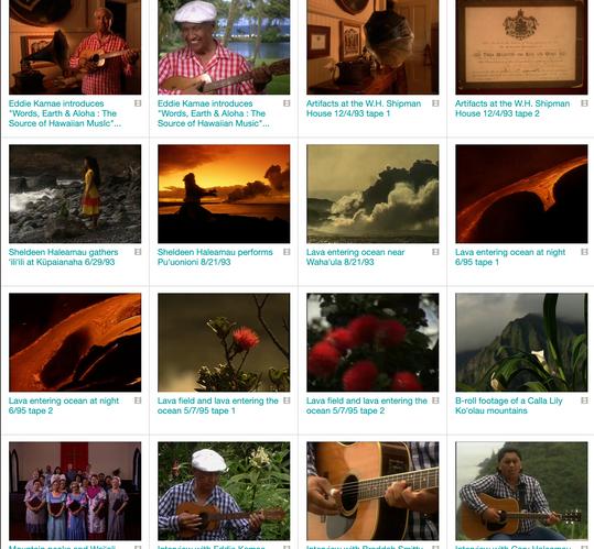 Words Earth & Aloha production materials