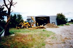 The studio under construction.