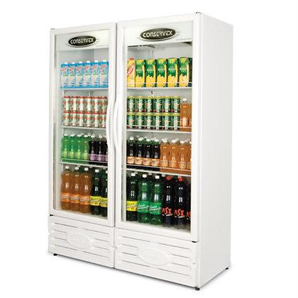 Expositor Refrigerado Vertical 2 Portas 850L ERV850 Conservex