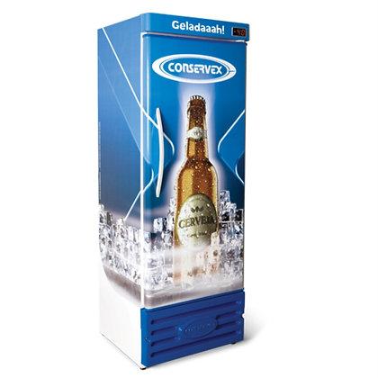 Cervejeira Refrigerada Vertical Slim 400L CRV 400 Conservex Lousa de Bar 1