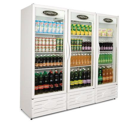 Expositor Refrigerado Vertical 3 Portas 1300L ERV-1300 Conservex