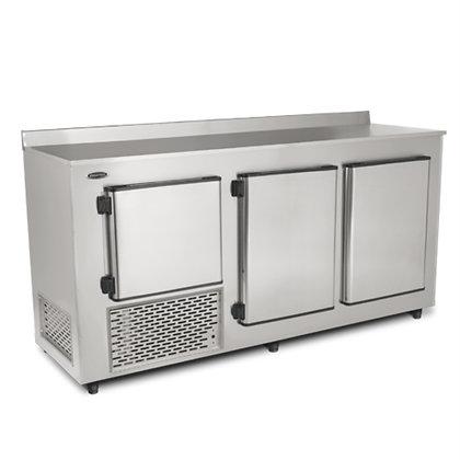 Balcão Refrigerado de Encosto Inox – BRE200  Conservex