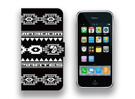 【 Smartphone Diary Case / Modern Pirates Native Pattern Design 】Released!!