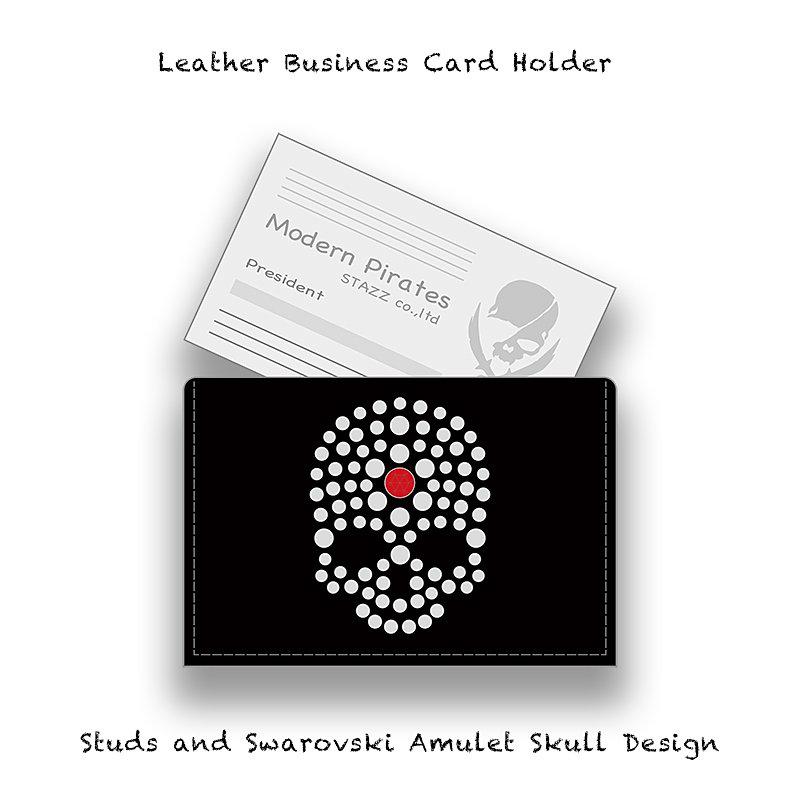 Stazz leather business card case studs and swarovski colourmoves