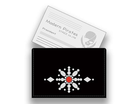 【 Leather Business Card Holder / Birthstone Color Swarovski Circle Design 】Released!!