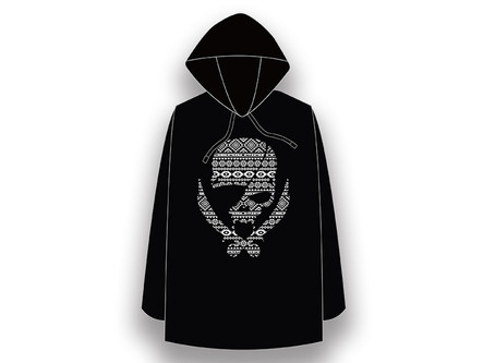 【 Long-Sleeved T-shirt with Hood / Modern Pirates Native Line Skull Design 】Released!!
