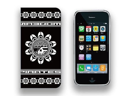 【 Smartphone Diary Case / Modern Pirates Sun Face Skull Design 】Released!!