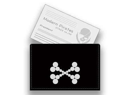 【 Leather Business Card Holder / Studs Cross Borne Design 】Released!!