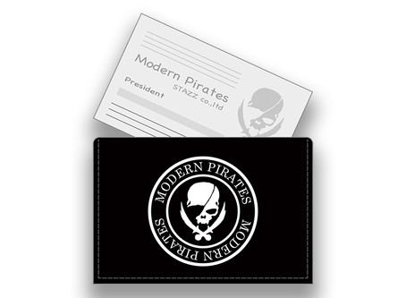 【 Leather Business Card Holder / Printing Modern Pirates Skull Design 】Released!!