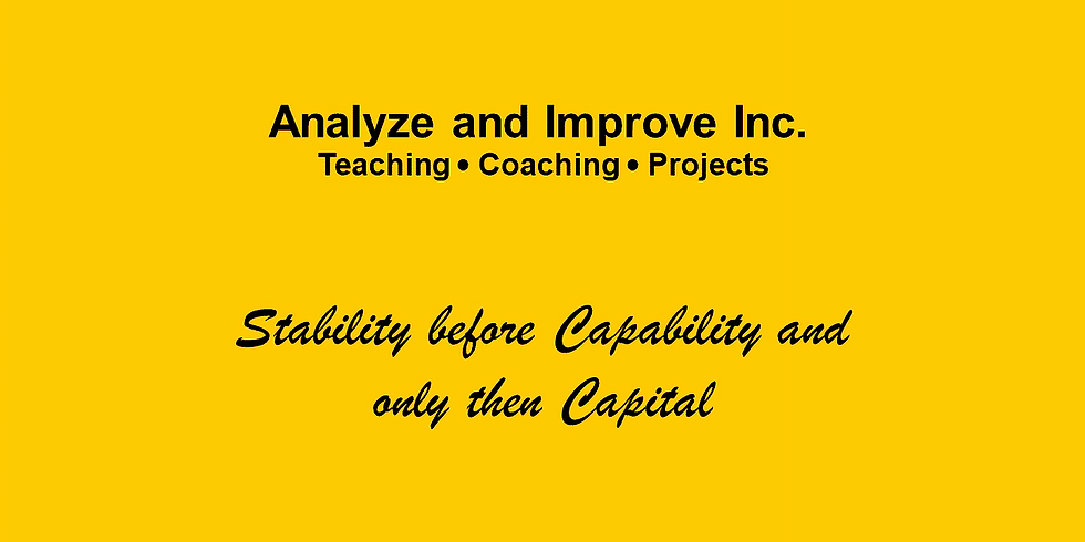 A+I Webinar: Road map to Sustainable Improvement